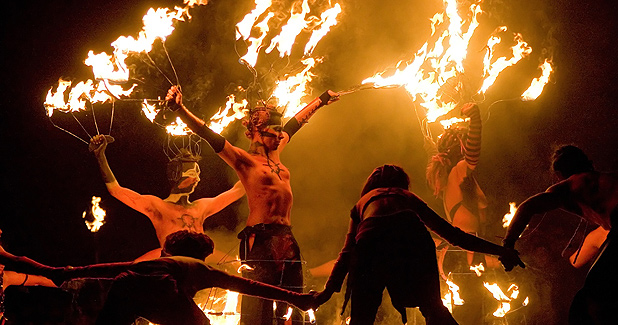 Trip to Edinburgh on Beltane Night with Celtic Bonfires images