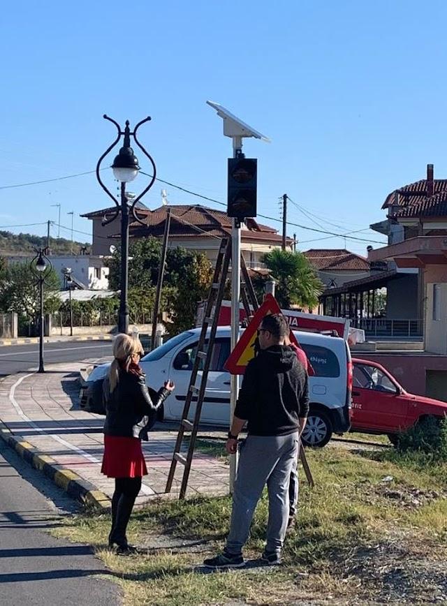 Τοποθέτηση φωτεινών παλλόμενων σηματοδοτών στην Τοπική Κοινότητα Μοσχοχωρίου από την Περιφερειακή Ενότητα Πιερίας