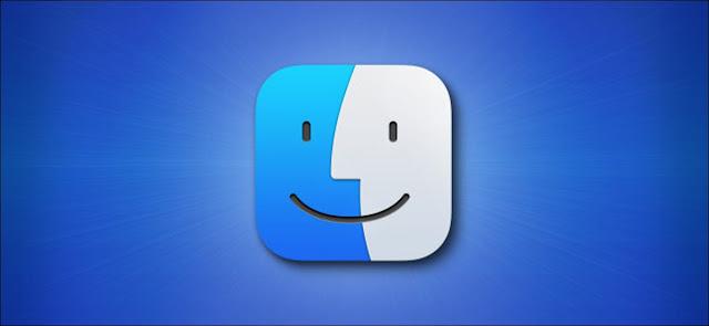 أيقونة Apple Mac Finder Big Sur على خلفية زرقاء