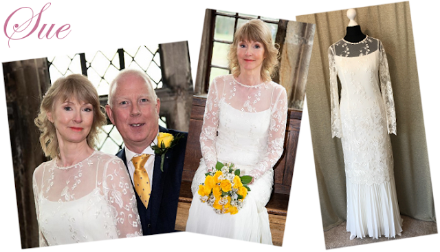 Lace long sleeve vintage wedding dress from vintage lane bridal boutique in Bolton Manchester