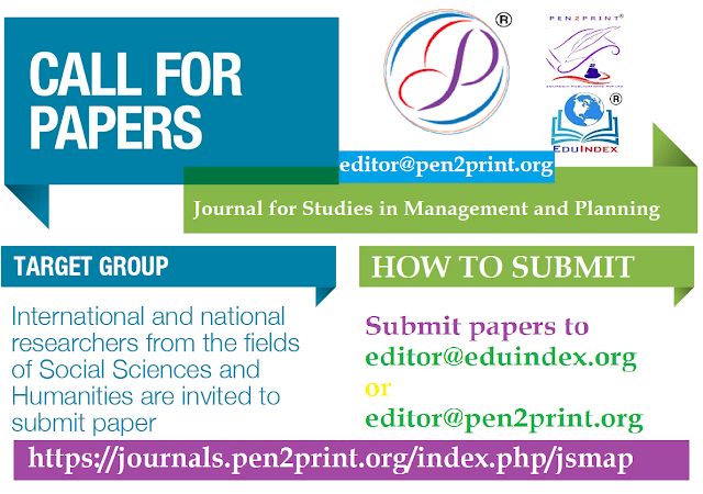 Call for Papers for Journal for Studies in Management and Planning