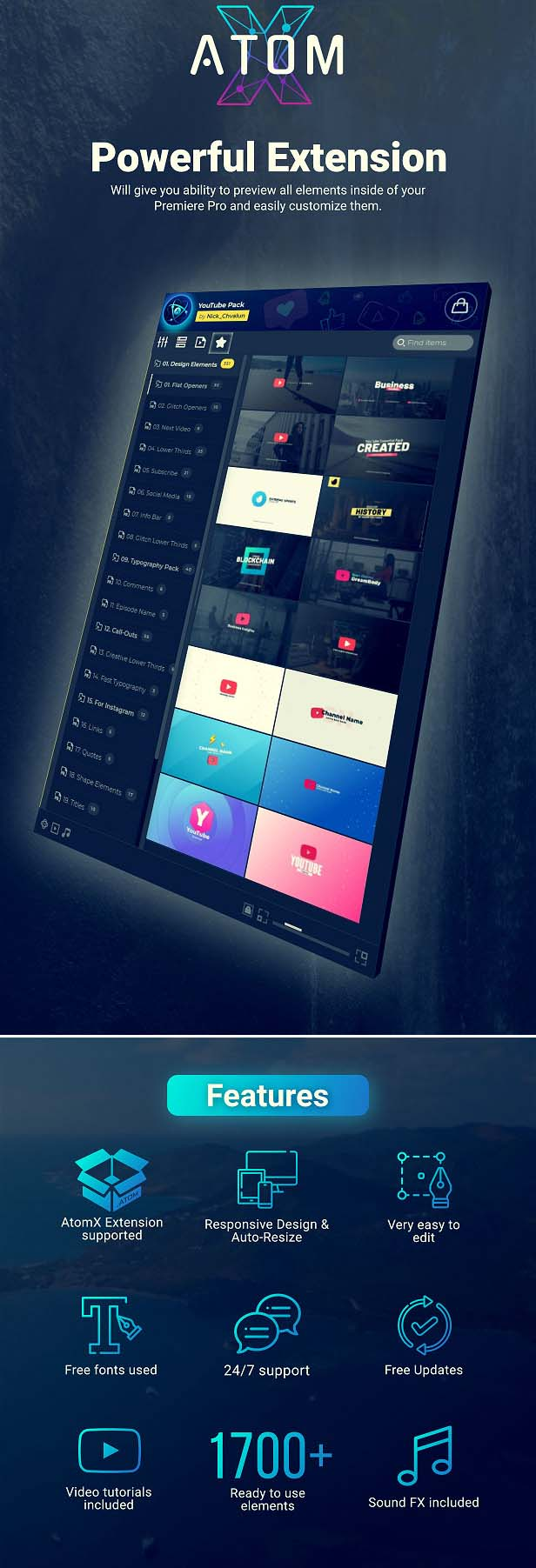Videohive - YouTube Pack - Transitions