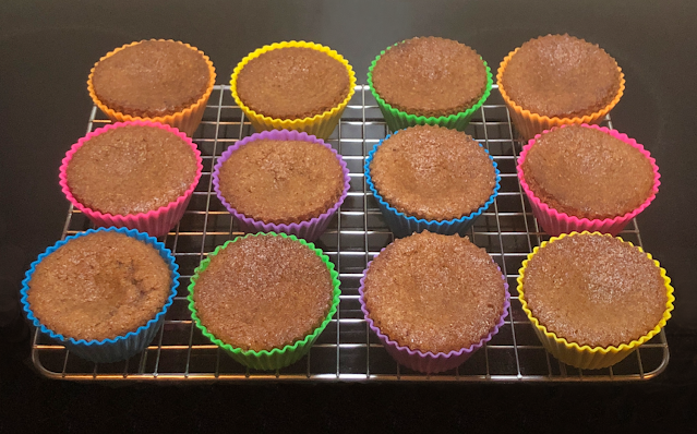 Photo of BochaSweet Keto Cinnamon Muffins on cooling rack
