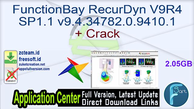 FunctionBay RecurDyn V9R4 SP1.1 v9.4.34782.0.9410.1 + Crack_ ZcTeam.id