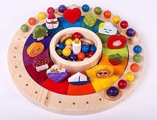 El calendario anual montessori permite materializar el concepto del año, mes, semana y día