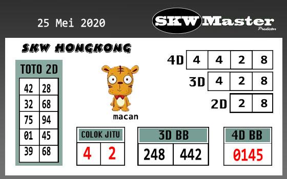 Prediksi HK Malam Ini 25 Mei 2020 - SKW Master