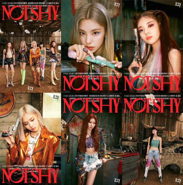 "Foto Teaser ITZY Album ""Not Shy"""