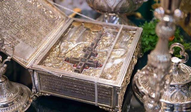 Θεία Λειτουργία στο Πανελλήνιο Ιερό Προσκύνημα της Παναγία Σουμελά για την εορτή της Υψώσεως του Τιμίου Σταυρού