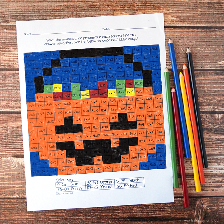 This is a picture of Free Printable Halloween Worksheets for classroom