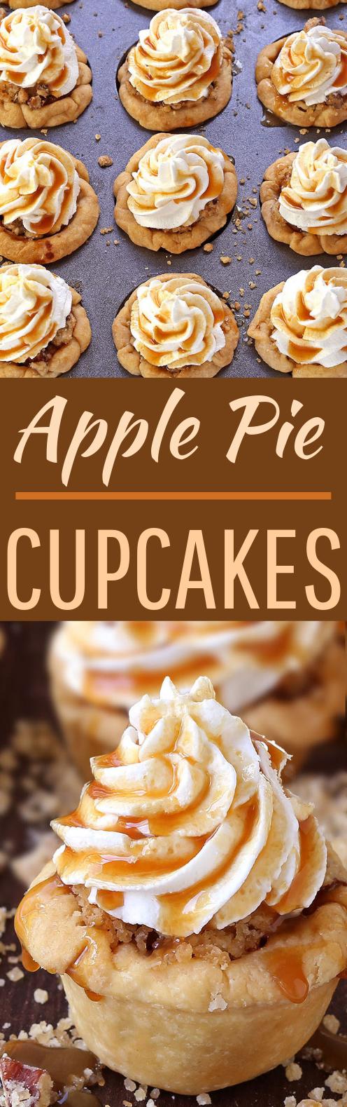 Apple Pie Cupcakes #desserts #cupcakes