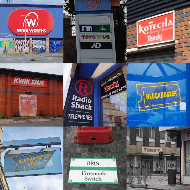 Lost brand shop signs