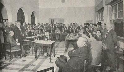 10 simultáneas a la ciega de Koltanowski en Mérida en 1934