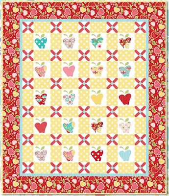 Quilt Inspiration: Free pattern day! Apple quilts