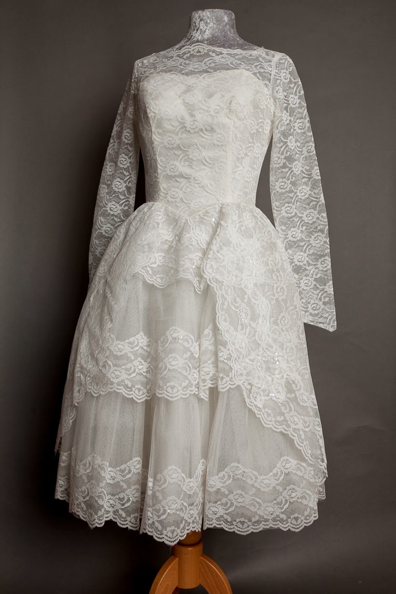 Gorgeous Vintage 1950s Lace Wedding Dresses, New On My
