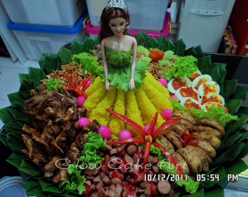 Mommy Cake And Cookies Glow Cake Art Tumpeng Barbie