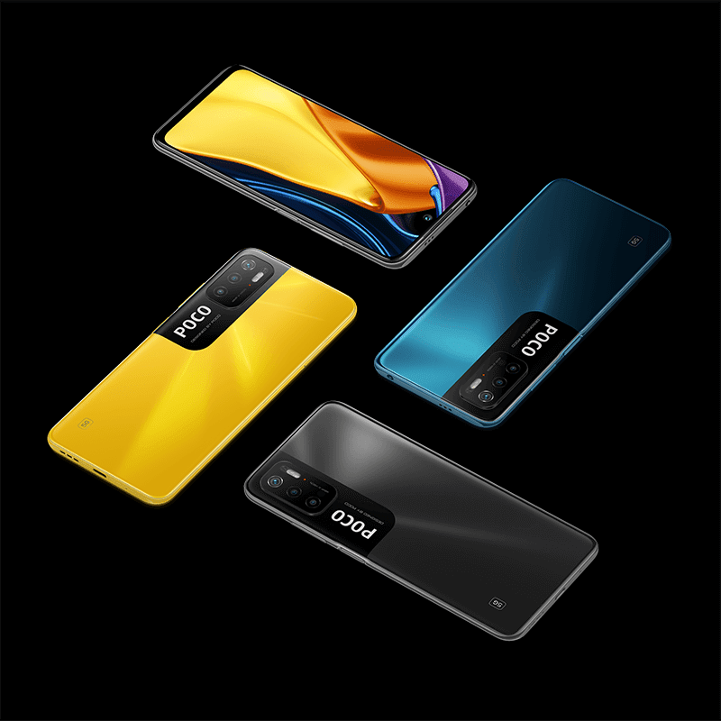 Different colors of the POCO M3 Pro 5G
