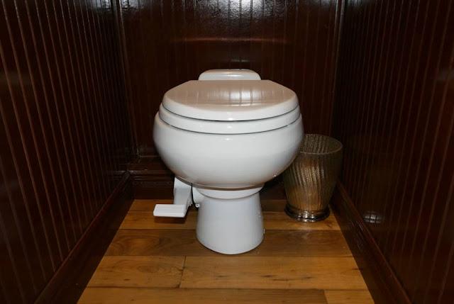 Spacious Bathroom Stalls inside the Cambridge Restroom Trailer