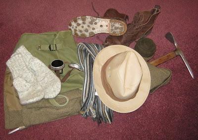 Vintage mountaineering equipment