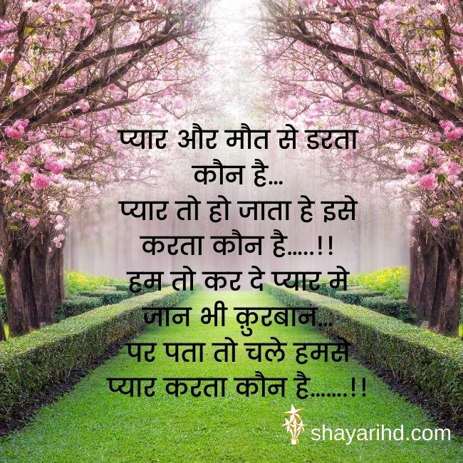 Best Romantic Shayari with Image in Hindi