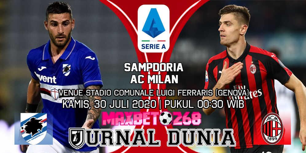 Prediksi Sampdoria vs AC Milan 30 Juli 2020 Pukul 00:30 WIB
