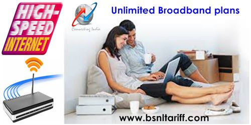 BSNL Broadband Unlimited Internet Plans