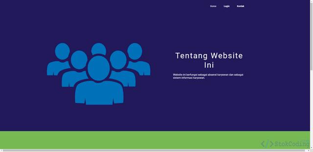 Sistem Informasi Absensi Karyawan Berbasis Web (PHP)
