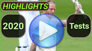 2020 Test Cricket Matches Highlights Online