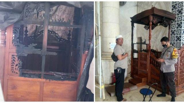 Mimbar Masjid Raya Makassar Dibakar OTK, Mustofa: Biasanya sih, Orang Gila