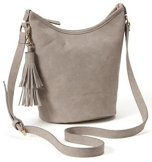 Old Navy Sueded Tassel Hobo Bag $15 (reg $30)