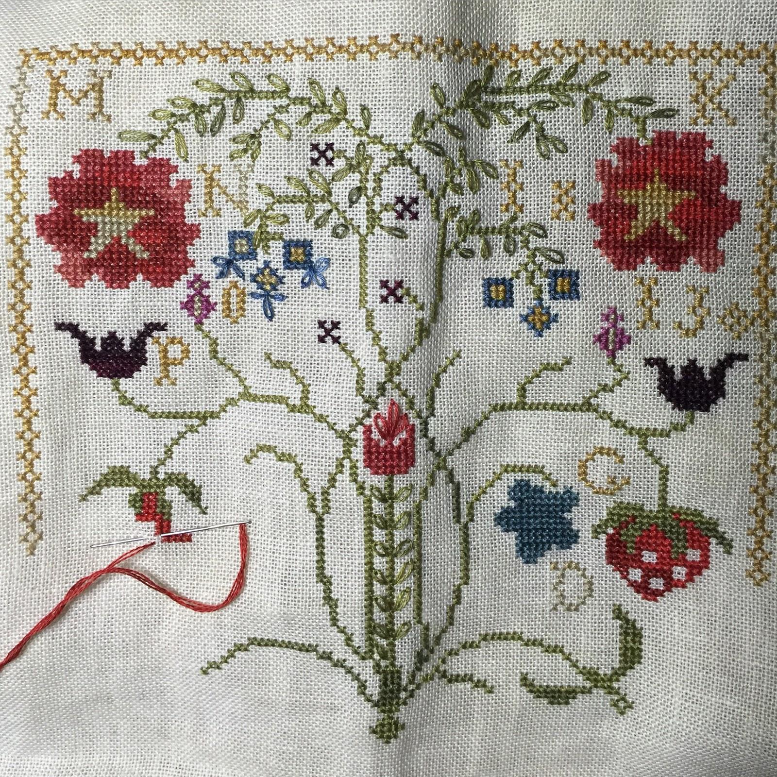 Sharon 39 s cross stitch obsession for Blackbird designs strawberry garden