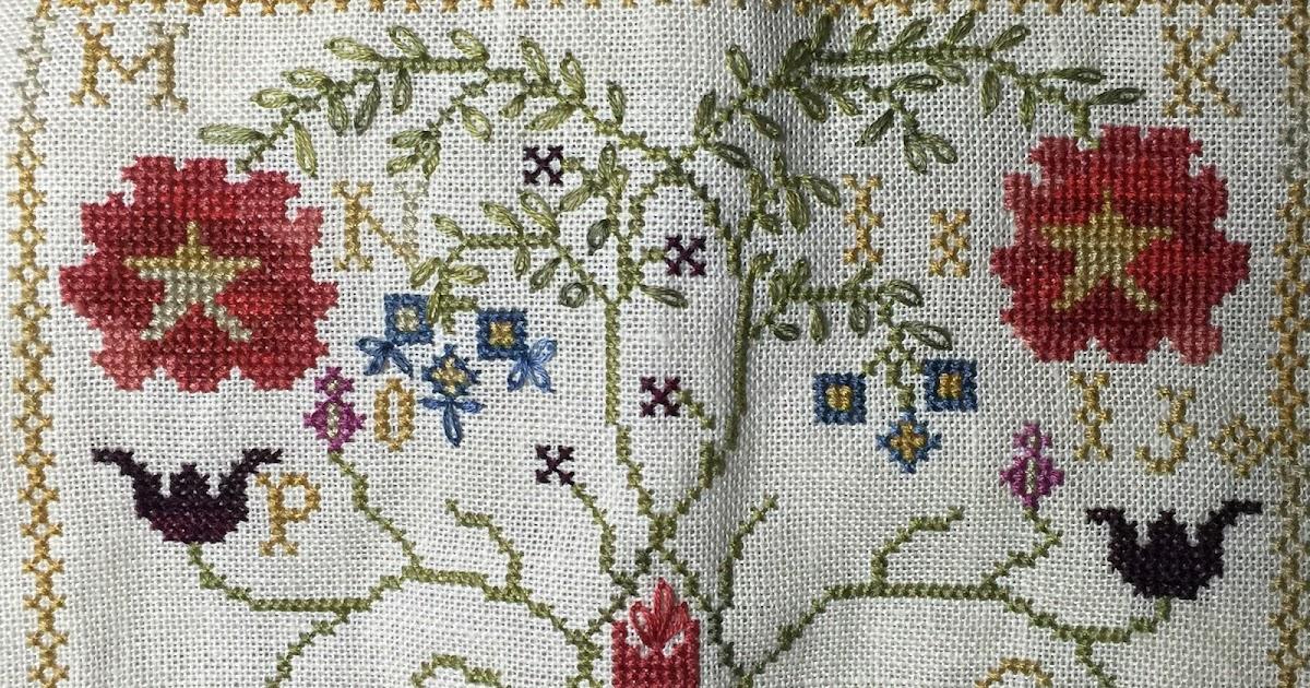 Sharon 39 s cross stitch obsession work in progress for Blackbird designs strawberry garden