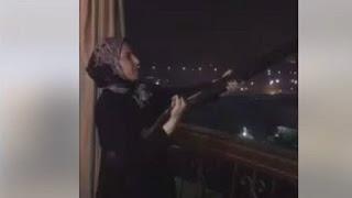 النائبة المصرية مطلقة النار تعتذر وتسلم سلاحها