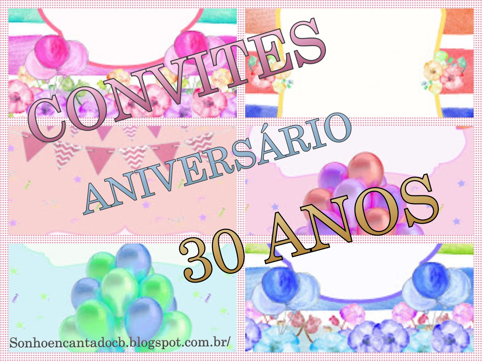 Convite Aniversário 30 Anos