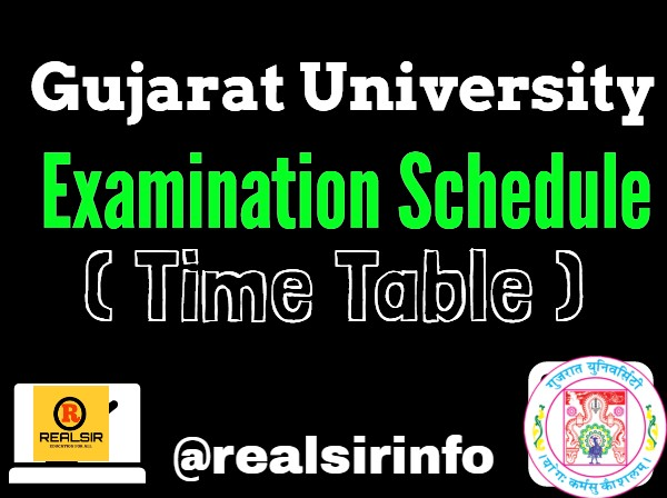 Examination Schedule of Gujarat University