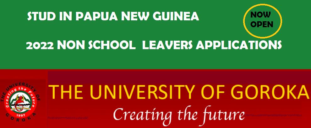 University of Goroka Non School Leavers Application Forms
