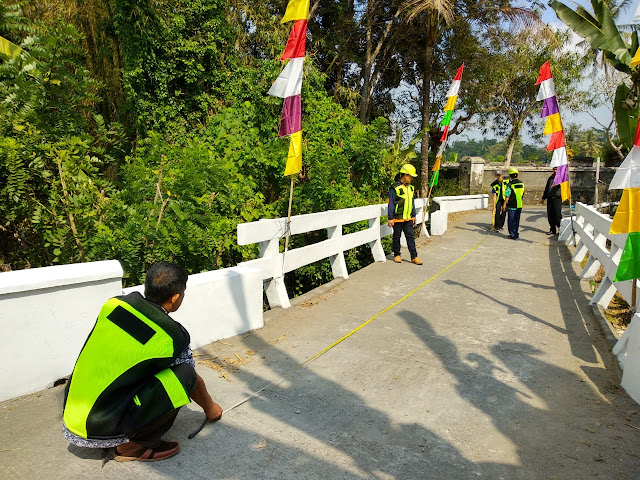 pengukuran panjang jembatan kertosono jetis