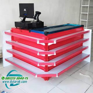 meja kasir merah putih murah balikpapan