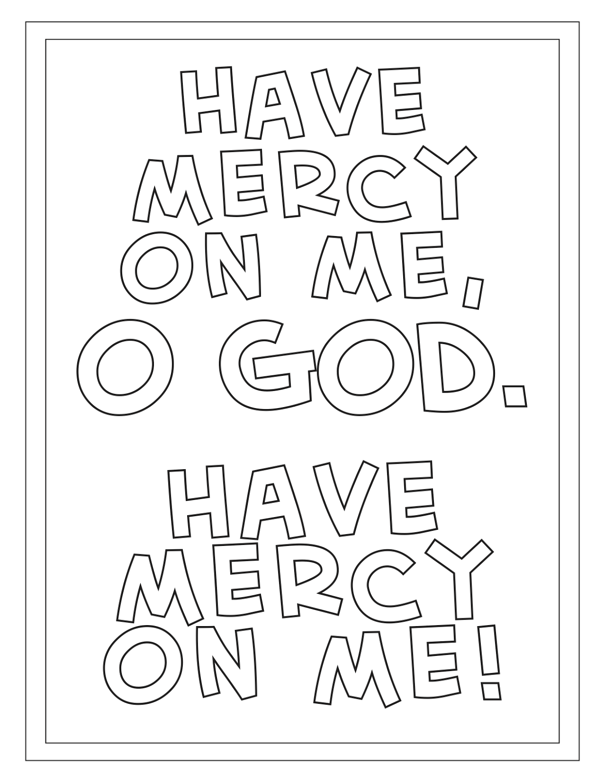 Many Mercies: Clean Week Coloring Pages for the Great