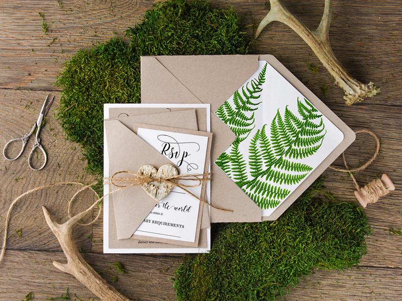 Resultado de imagen para invitaciones de boda ecológicas