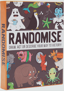 Randomise The Hilarious Pocketsize Party Game of Drawing, Acting and Describing. The perfect family game loved by adults as much as kids.