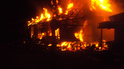 Photos: Fire destroys Man's Investment Worth Millions of Naira in Owerri.