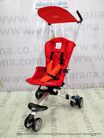 Kereta Bayi LightWeight CocoLatte CL08 iSport Small Polkadot Red
