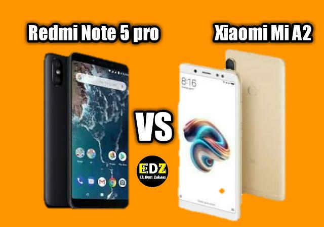 Xiaomi Mi A2 vs Redmi Note 5 Pro