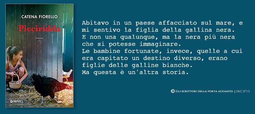 Picciridda, di Catena Fiorello - Incipit, Libri, Scrittori, Giunti