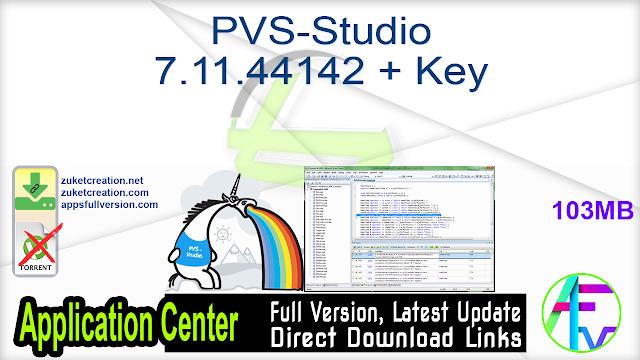 PVS-Studio 7.11.44142 + Key