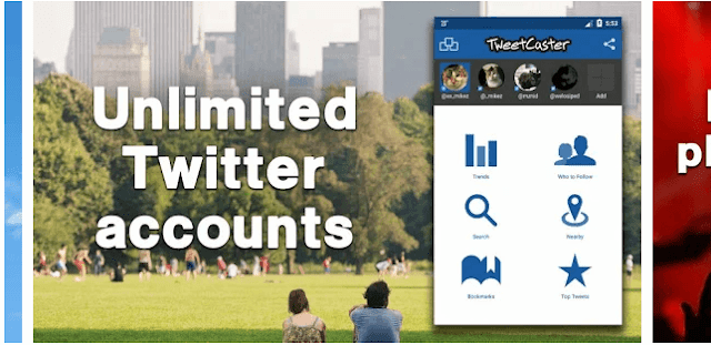 tweetcaster,seo apps for android, digital marketing apps for android, social medial marketing apps