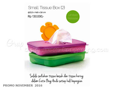 Small Tissue Box Promo Tupperware November 2016