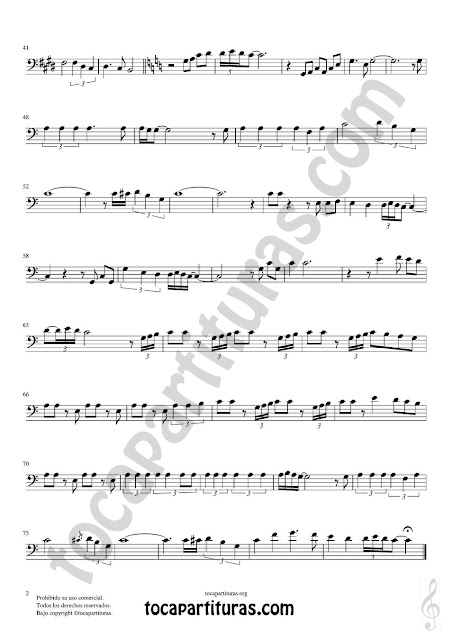 Hoja 2 de 2 Hoja 1 de 2  Violonchelo y Fagot Partitura de Yo le seguiré (I will follow him) Sheet Music for Cello and Bassoon Music Scores