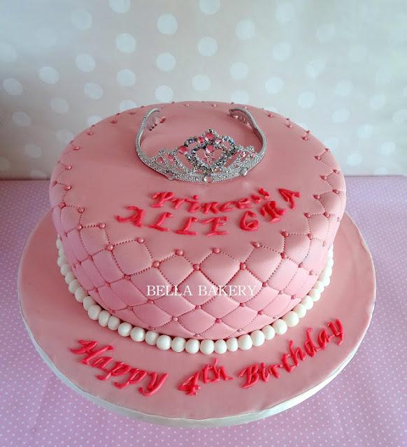 Quilted Design Princess Tiara Cake