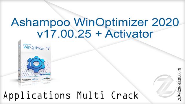 Ashampoo WinOptimizer 2020 v17.00.25 + Activator